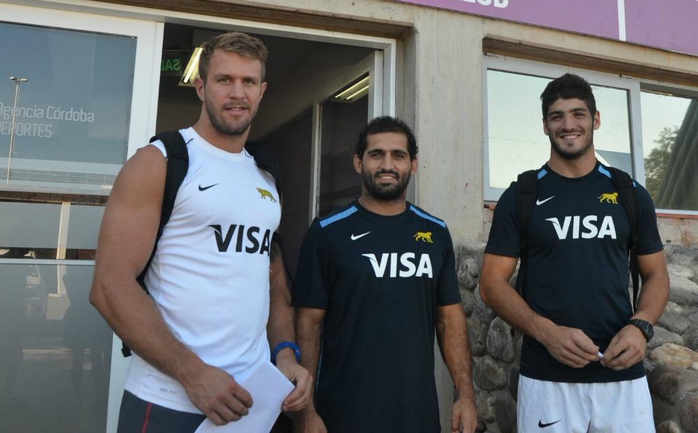 Luna, Revol y Schulz, en el centro de alto rendimiento del estadio Kempes. (Foto: Agencia Córdoba Deportes)