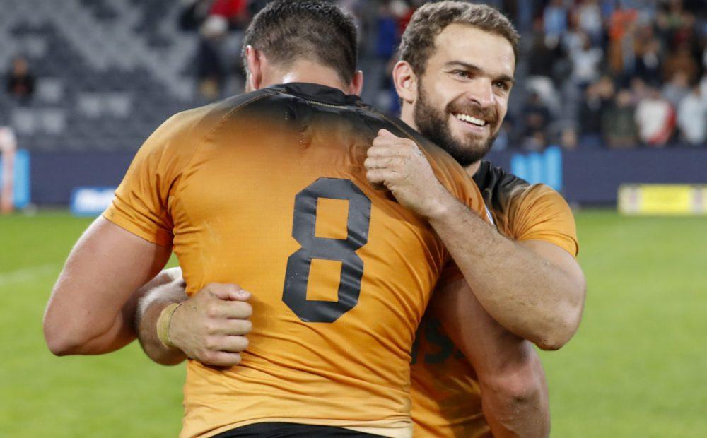 Ramiro Moyano and Javier Ortega Desio celebrate victory