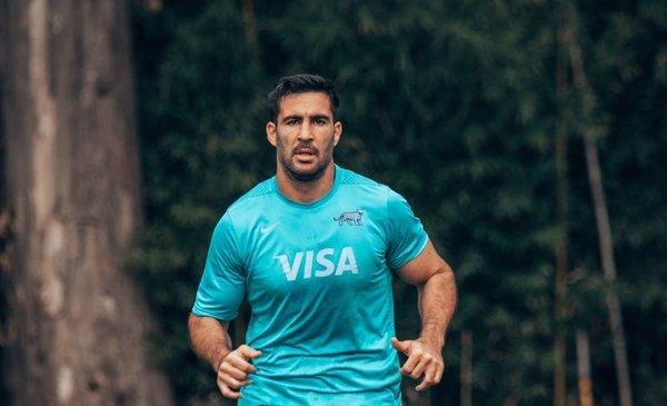 Los Pumas entrenan en Montevideo